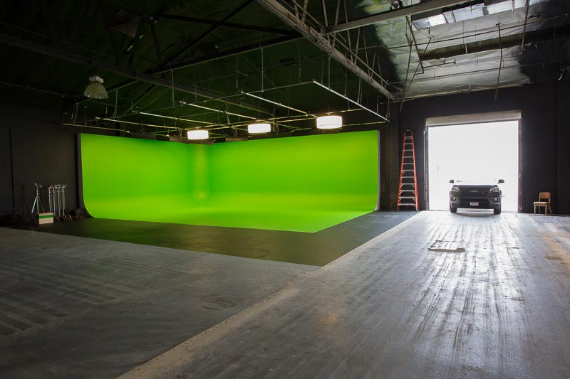 large green screen film location