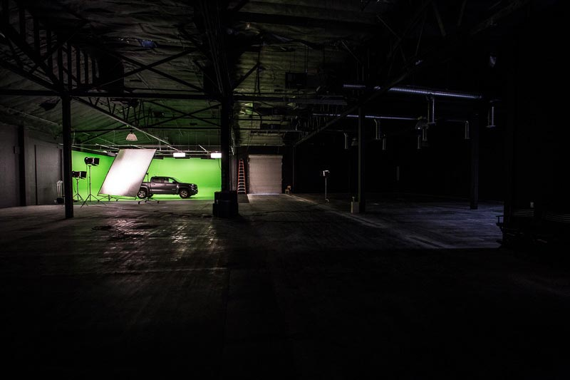 green screen film stage