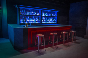 bar standing set in los angeles for filming